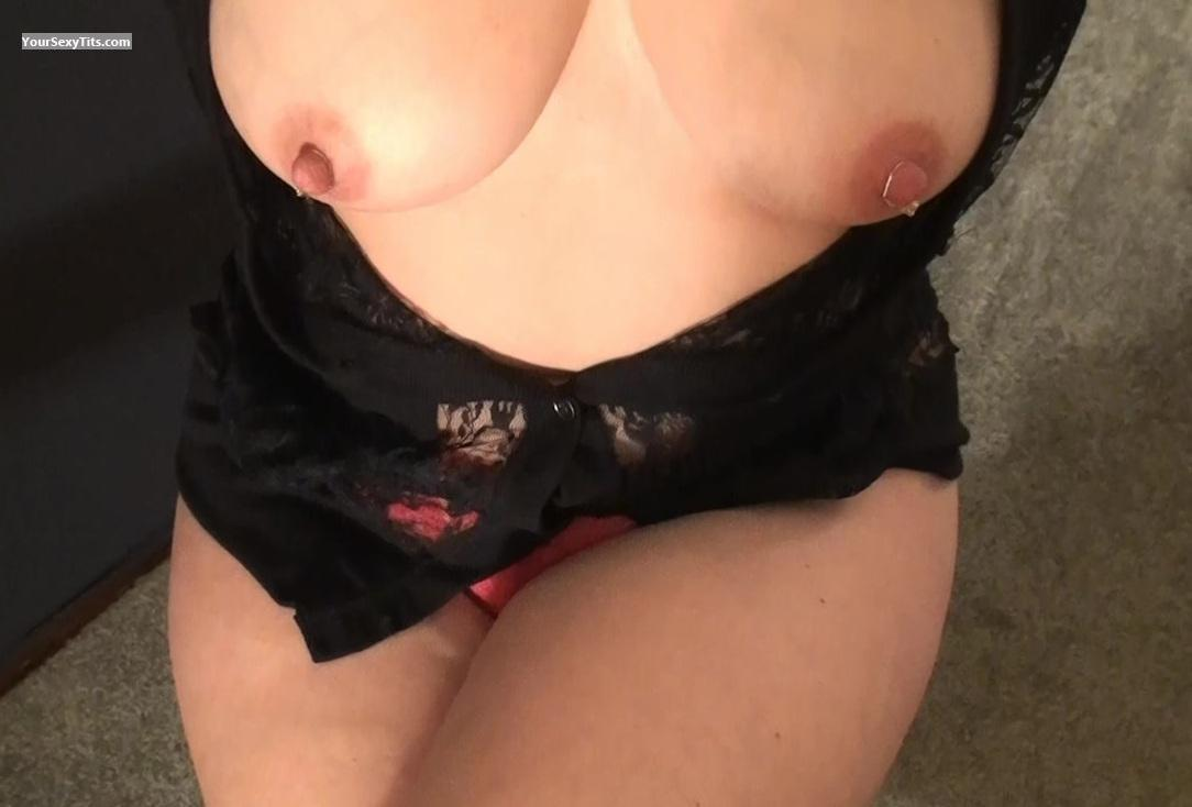 Tit Flash: My Medium Tits - HottieKat from United States