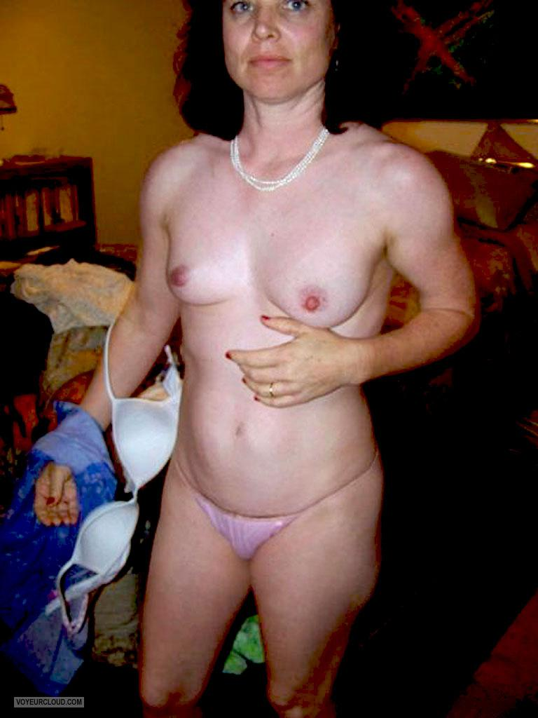 Tit Flash: Wife's Small Tits - Topless Realtilf3 from United States