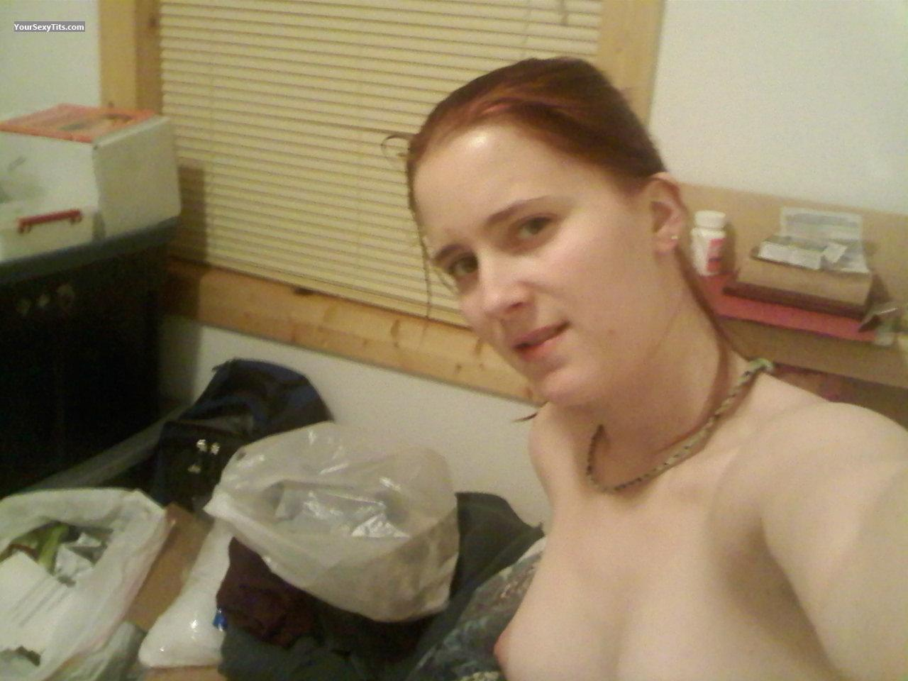 My Medium Tits Topless Selfie by Debra