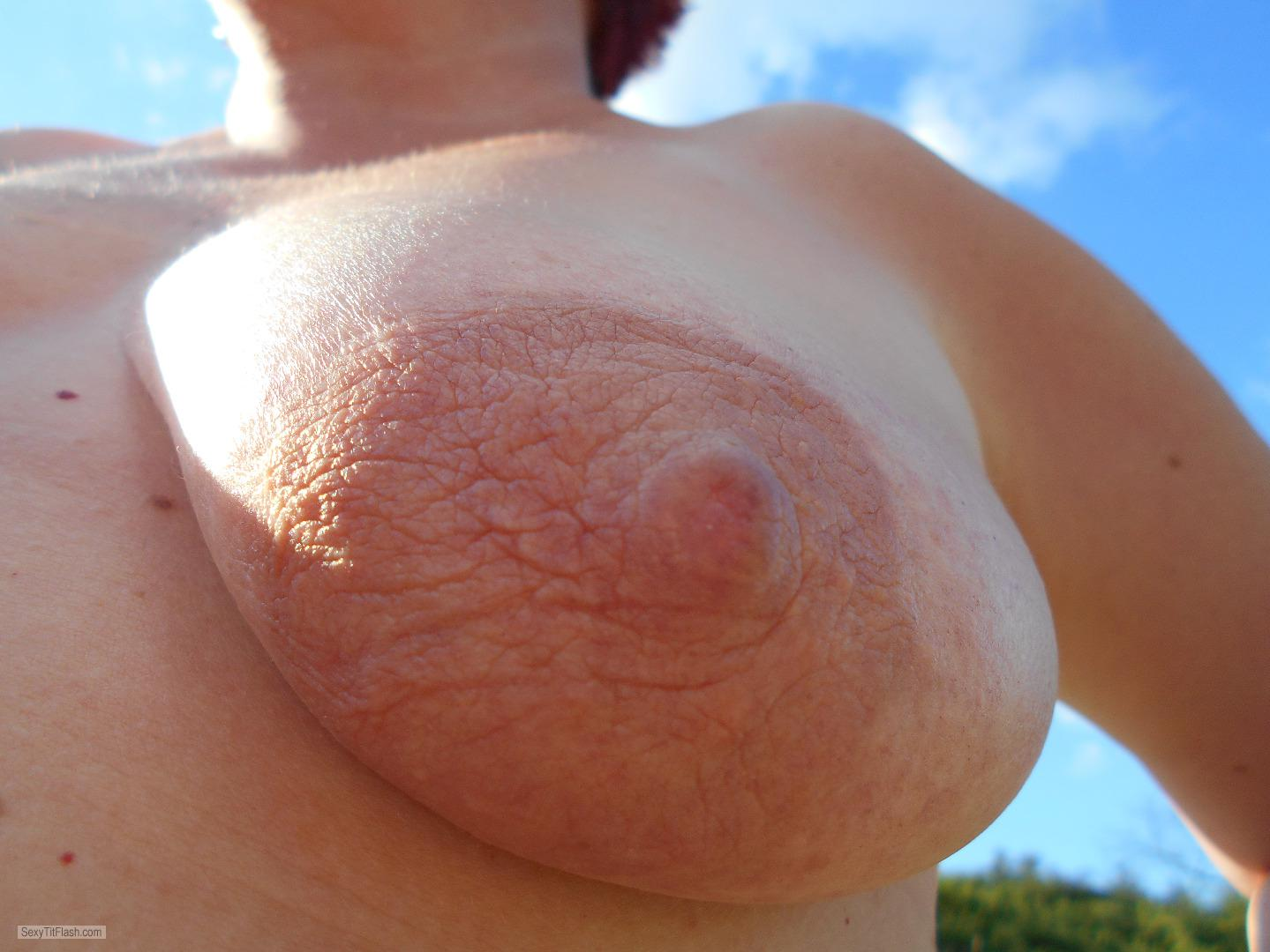 Tit Flash: My Medium Tits - Topless Susi from Germany