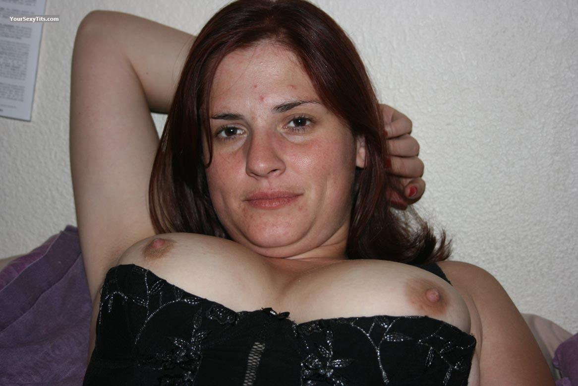 Tit Flash: Medium Tits - Topless YD from South Africa