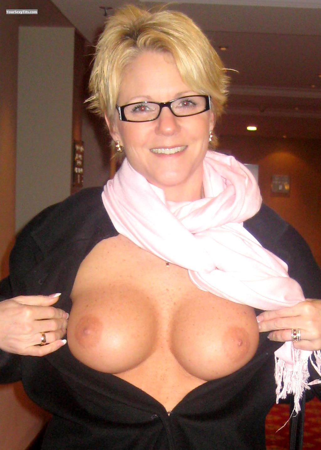 Tit Flash: Medium Tits - Topless Cheri from United States