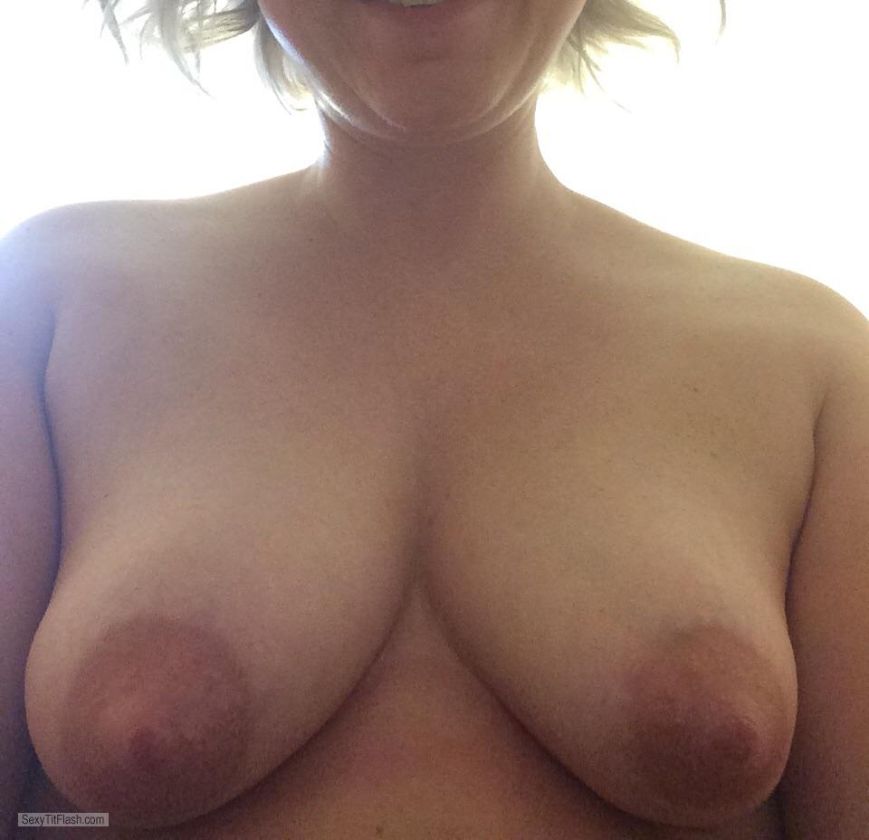 Tit Flash: Wife's Medium Tits - My Wifey from United States