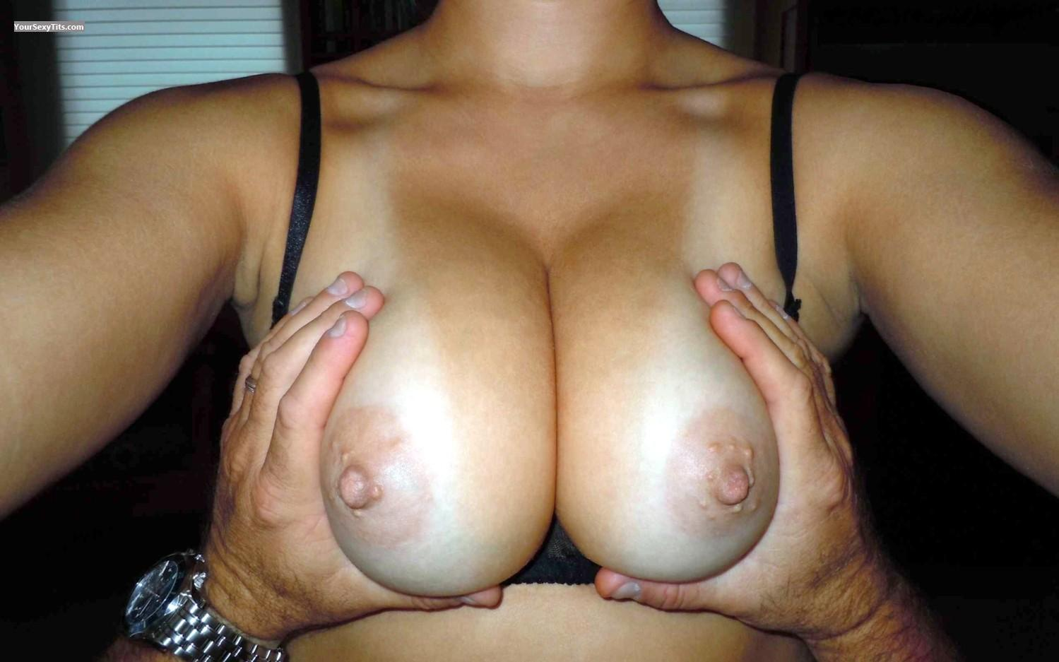 Tit Flash: My Medium Tits (Selfie) - Faans Flasher- A Hand Full from United States
