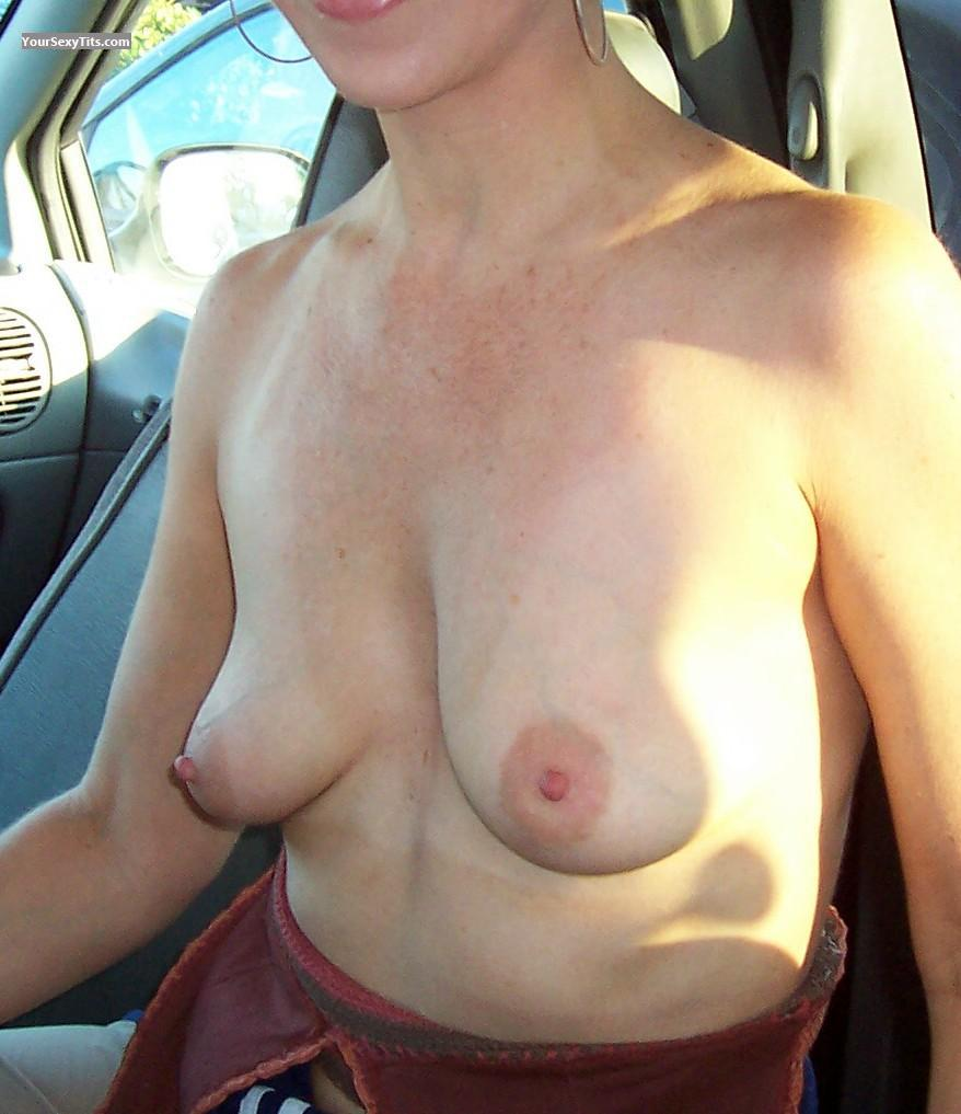 Tit Flash: Medium Tits - Sally from United States