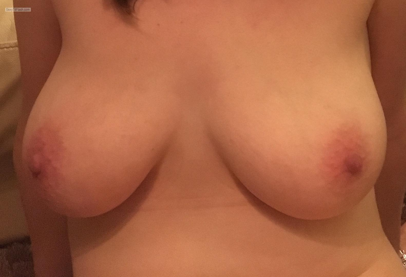 Tit Flash: Wife's Medium Tits - Louise, Uk Wife from United Kingdom