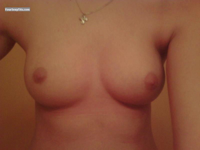 Tit Flash: My Medium Tits (Selfie) - Amz from United States