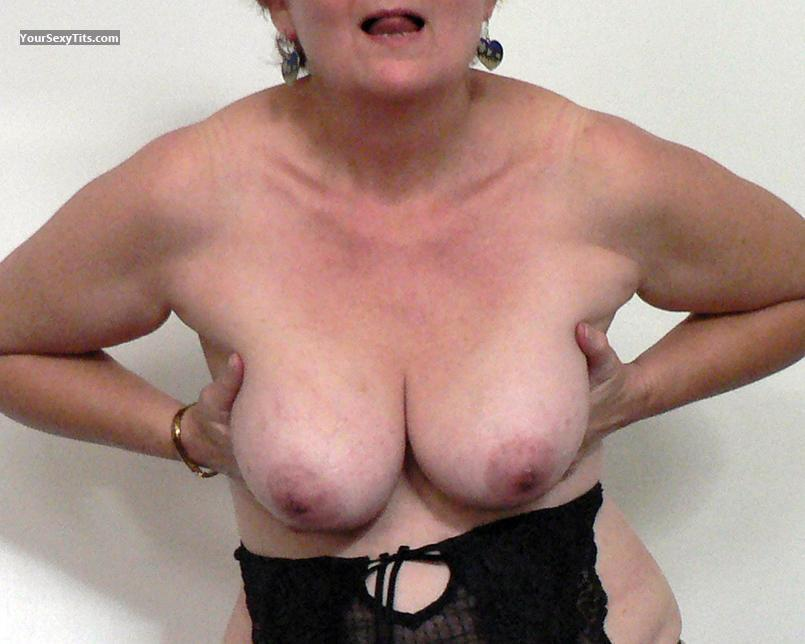 Tit Flash: Medium Tits - Patty from United States