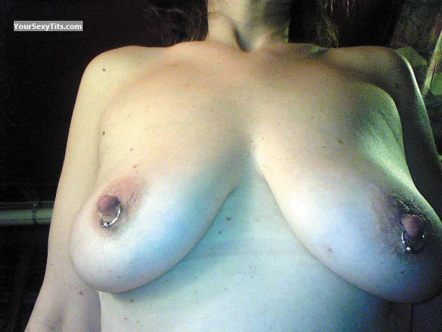 Tit Flash: Medium Tits - RERE from United StatesPierced Nipples