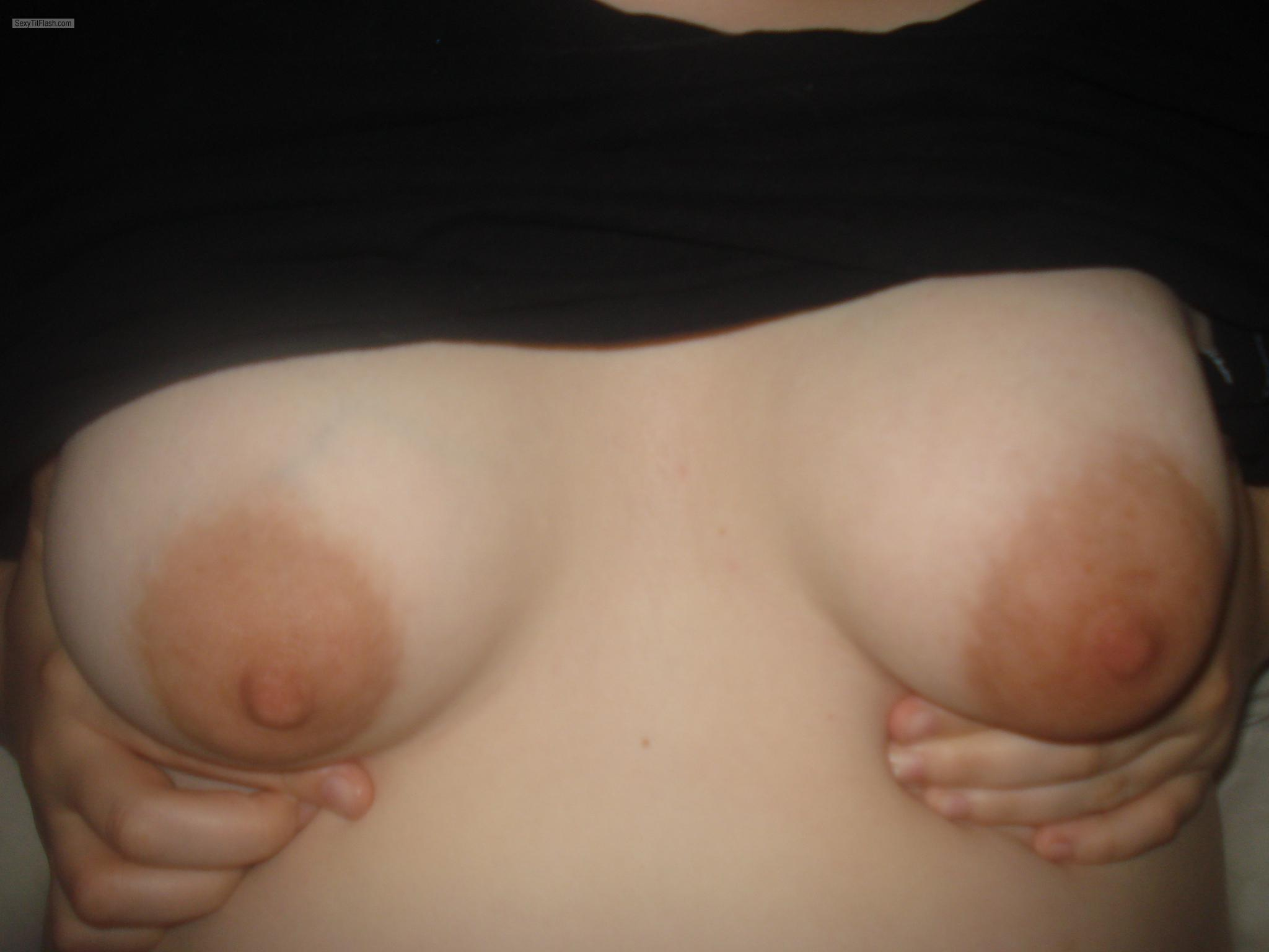 Tit Flash: My Small Tits - NEW YORK WILD from United States