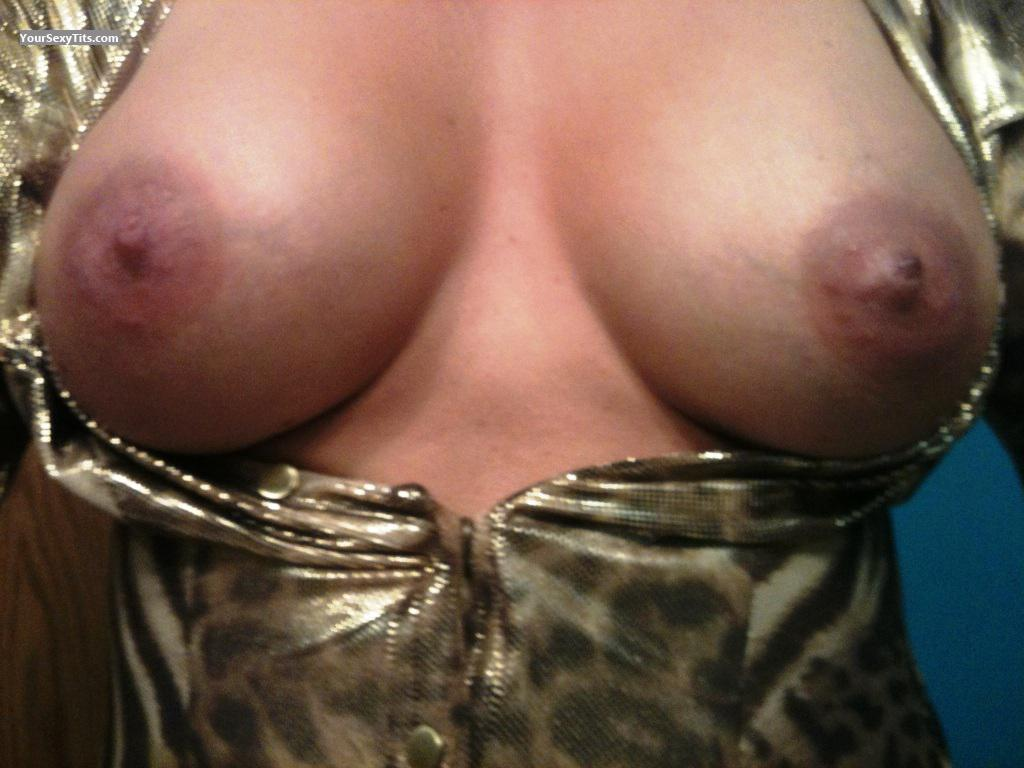 Tit Flash: My Coworker's Medium Tits - Naughty Wife from United States