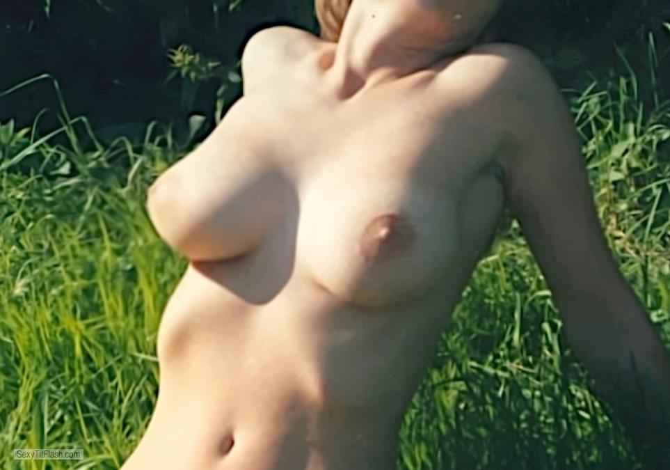 Tit Flash: My Medium Tits - Ann from Germany
