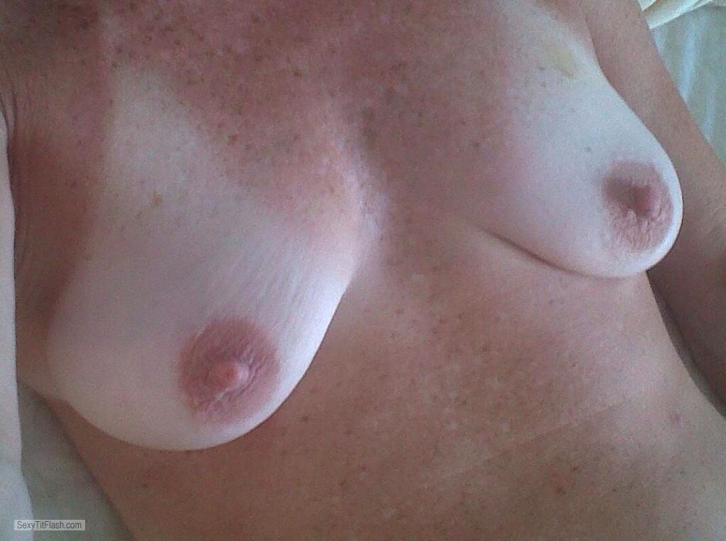 Tit Flash: My Small Tits - Topless Duke Girl from United Kingdom