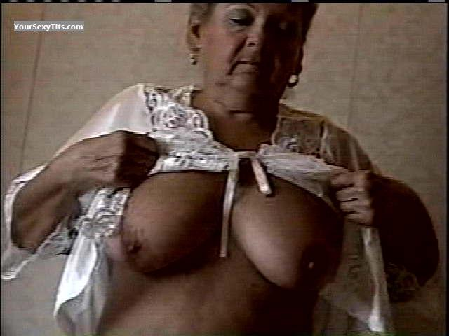 Tit Flash: My Medium Tits - Topless Marie from United States