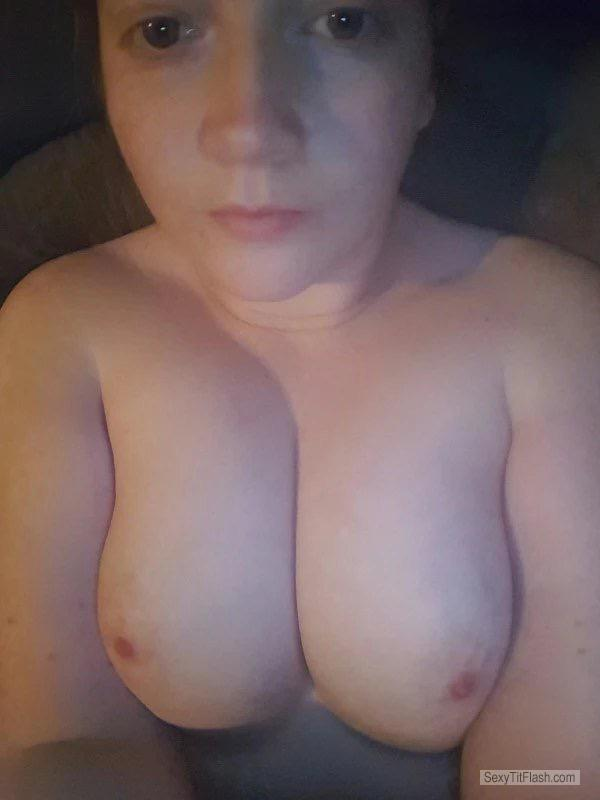 My Medium Tits Topless Selfie by Gina