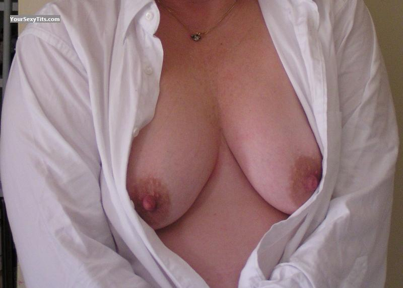 Tit Flash: Medium Tits - Jan from United States