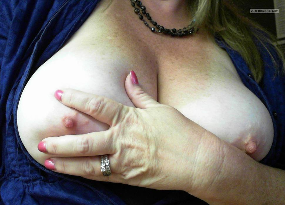 Tit Flash: My Big Tits (Selfie) - Lonely_wife from United States