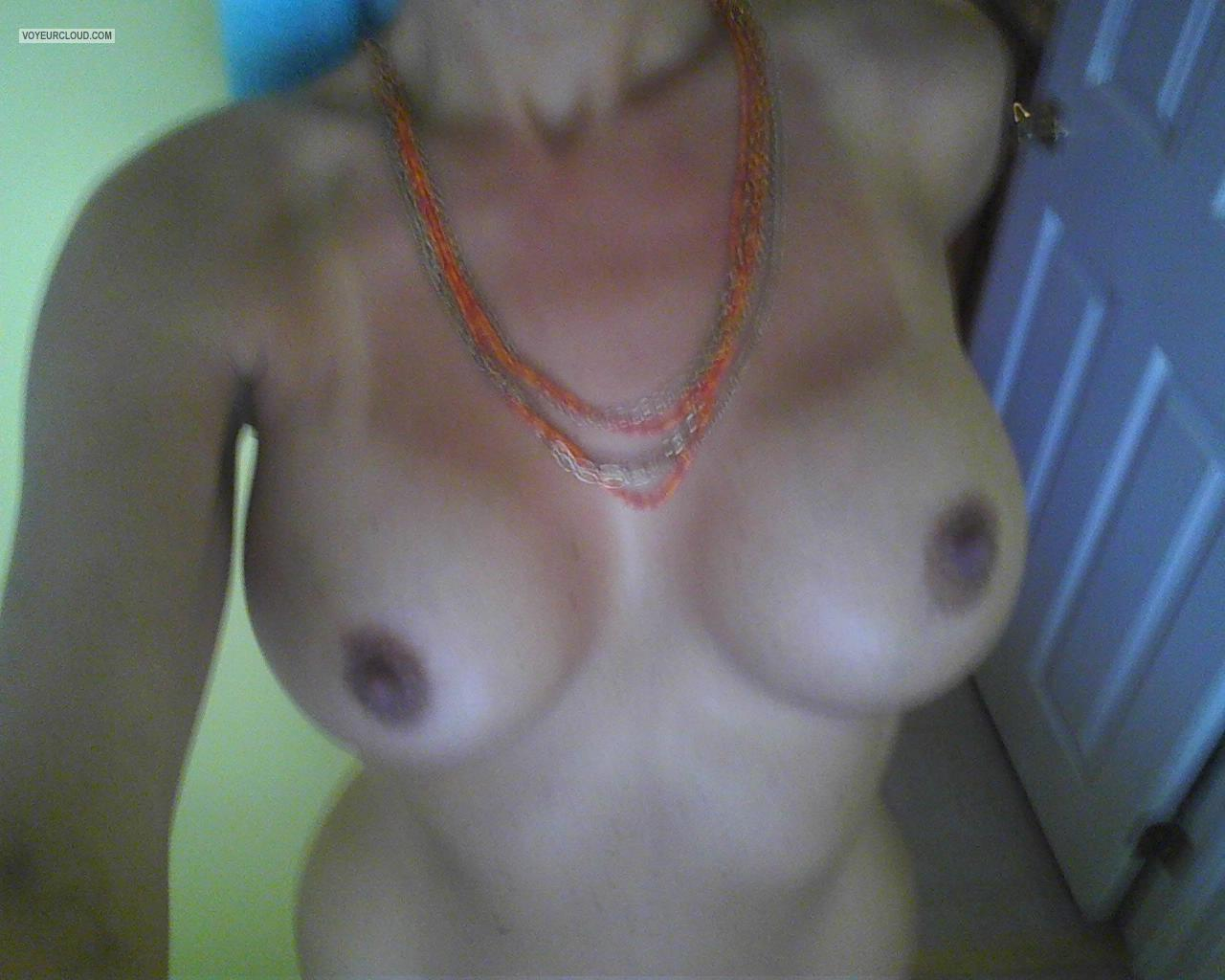Tit Flash: My Medium Tits (Selfie) - Kellie0girl from United States