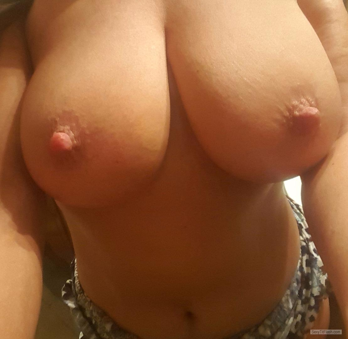 Tit Flash: My Medium Tits (Selfie) - KAYLA from United States