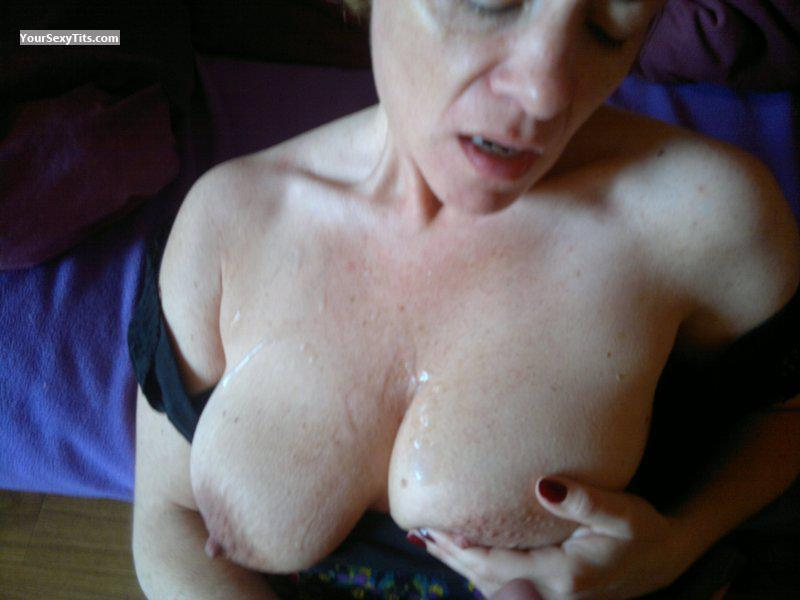 Tit Flash: Girlfriend's Medium Tits - CORALIE from France