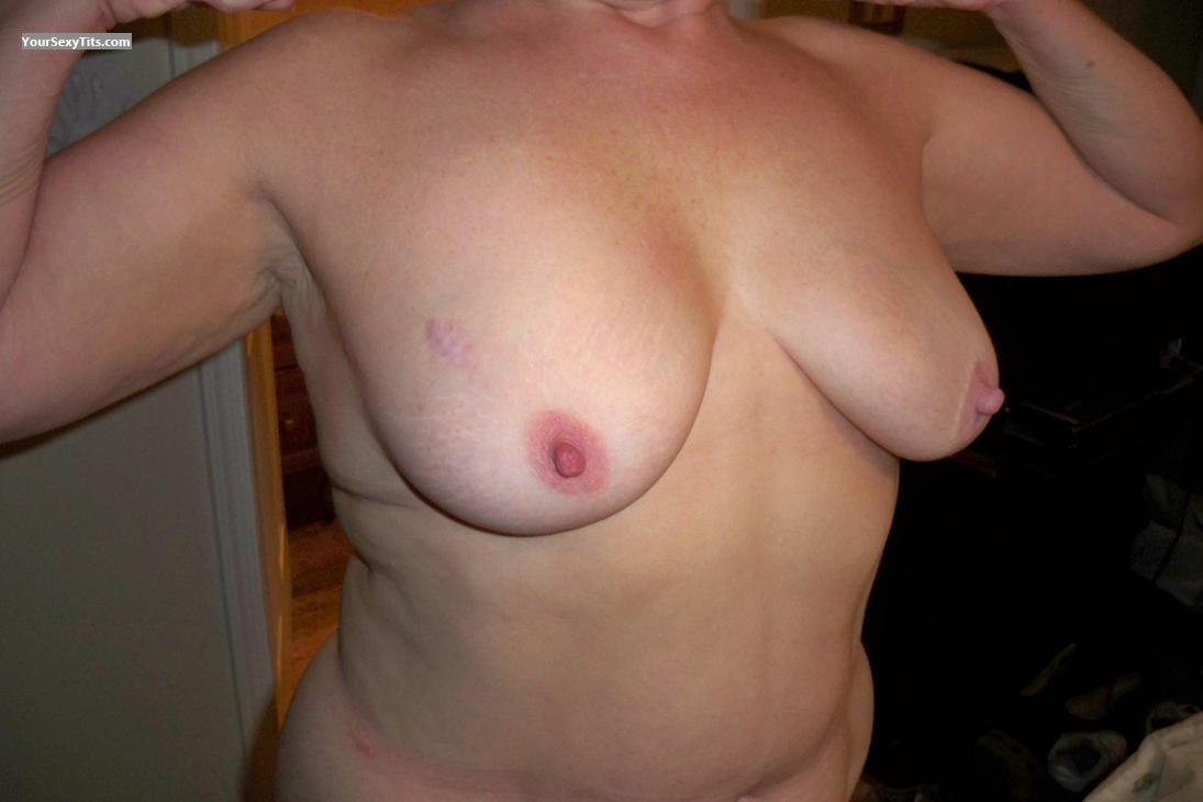 Tit Flash: My Medium Tits (Selfie) - Lick Me from United States
