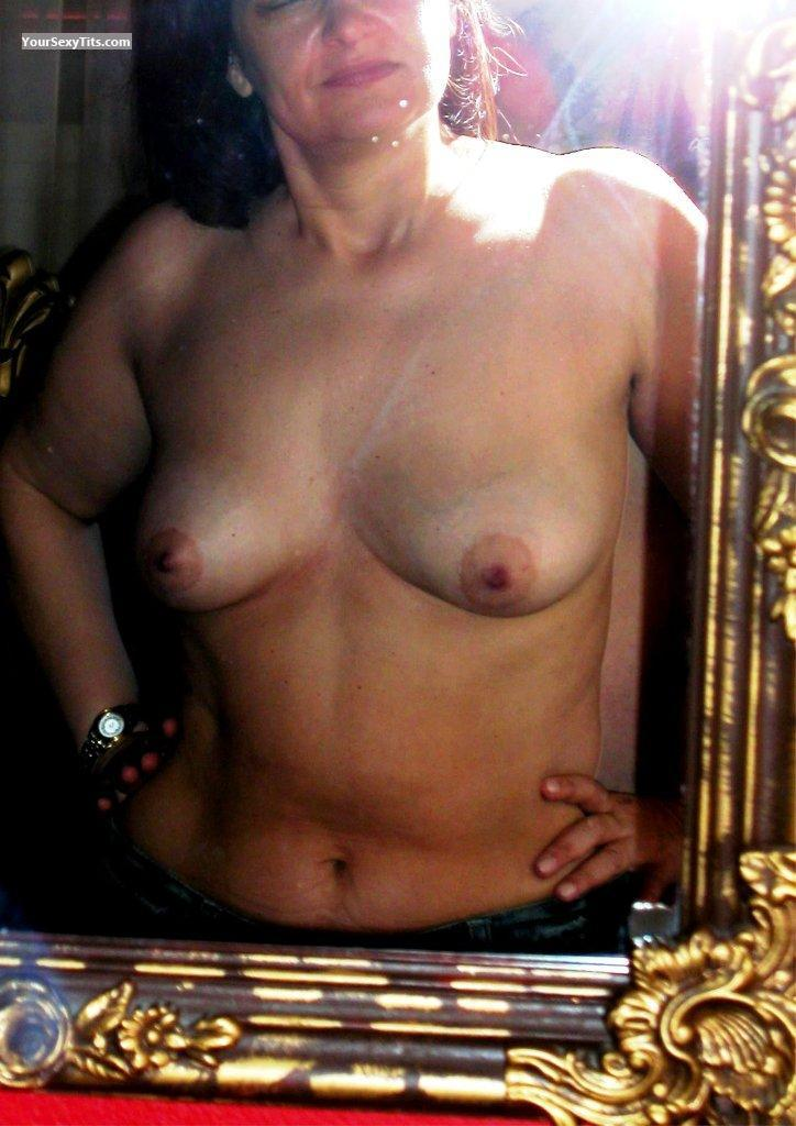 Tit Flash: My Medium Tits (Selfie) - Pinelopi from Greece
