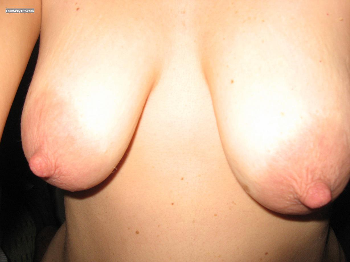 Tit Flash: Wife's Medium Tits - Mara from Italy