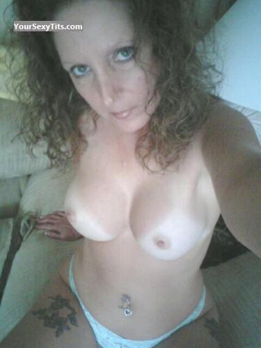 Tit Flash: My Medium Tits (Selfie) - Topless Summer from United States
