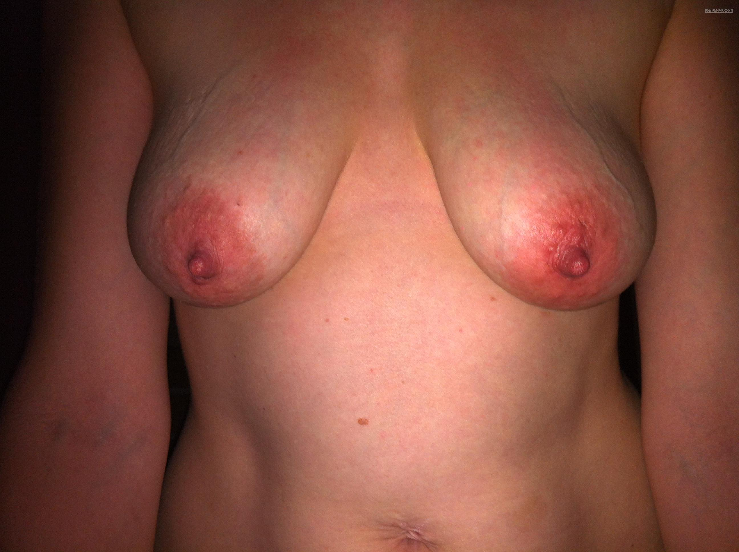 Tit Flash: Wife's Medium Tits - Jess Uk from United Kingdom