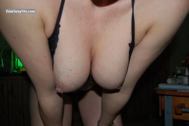 Tit Flash: Medium Tits - Line81 from GermanyPierced Nipples