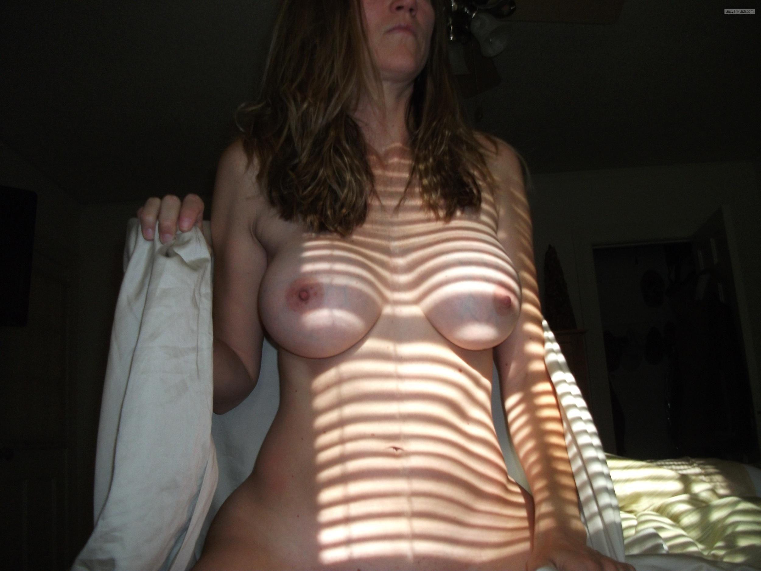 Tit Flash: Wife's Medium Tits - Nikki from United States