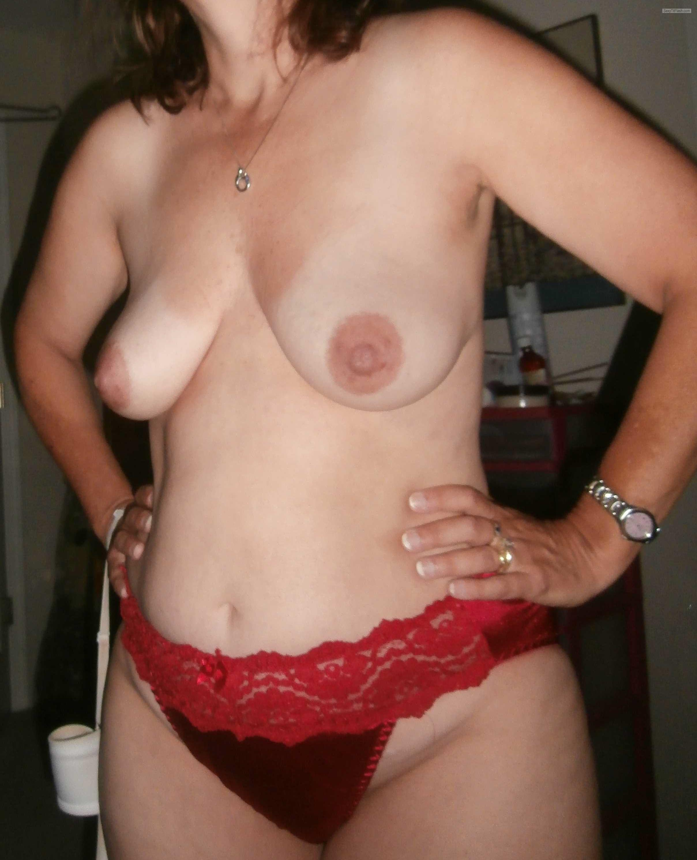 Tit Flash: Wife's Small Tits - FYI from United States