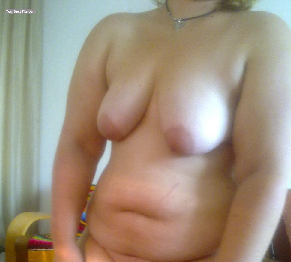 Tit Flash: My Medium Tits (Selfie) - Madelene from Belgium