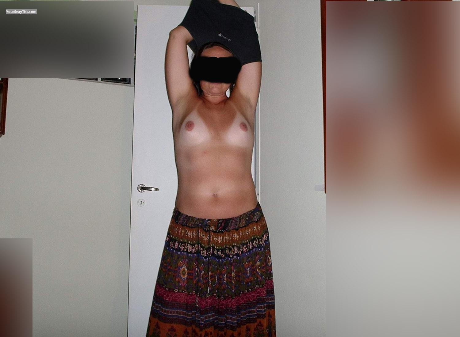 Tit Flash: Medium Tits - Wife Natural Breasts from Argentina