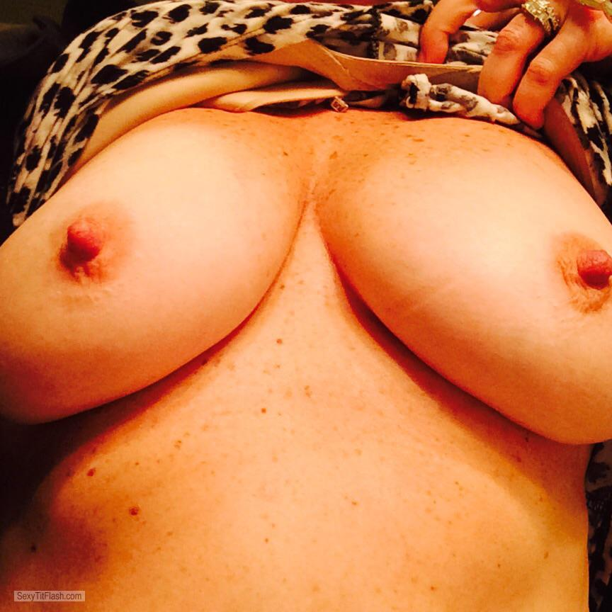 Tit Flash: My Medium Tits - Hot Wife from United States