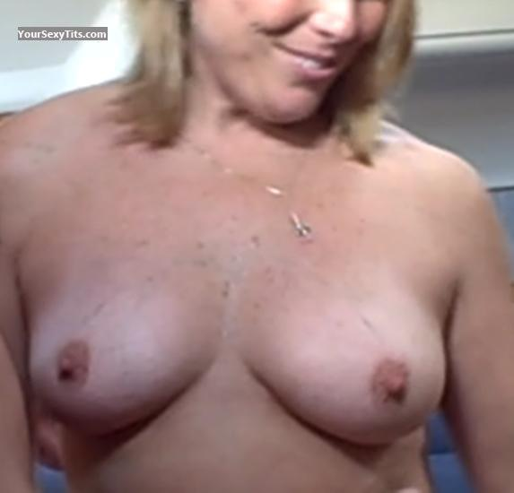 Tit Flash: My Friend's Tanlined Medium Tits - Lover Girl from United States