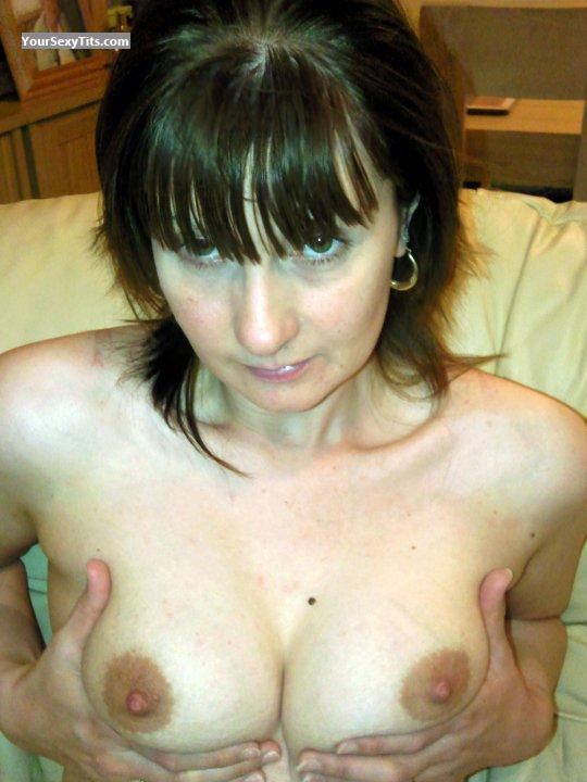 Tit Flash: Medium Tits - Topless Emms from United States