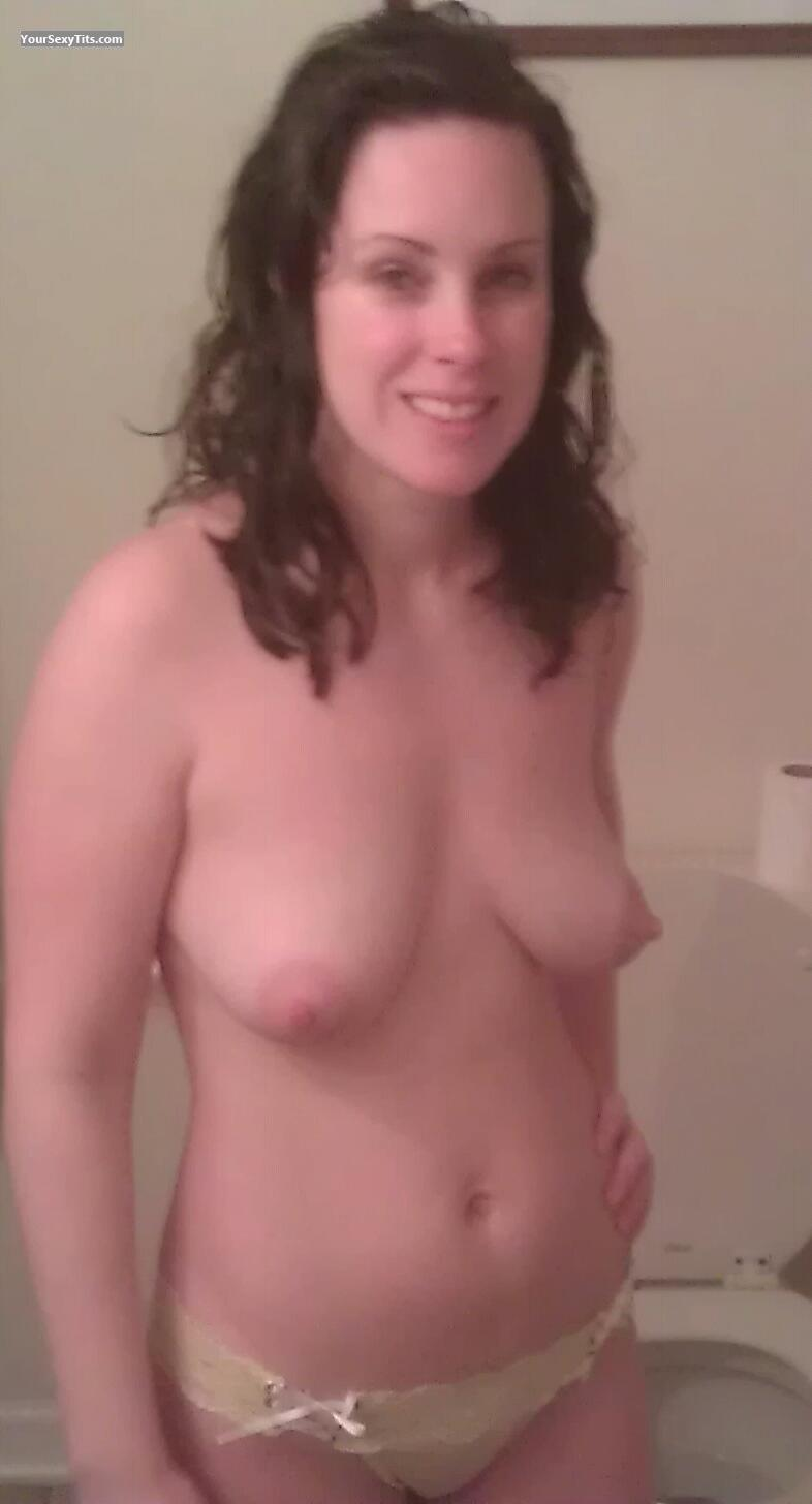 Tit Flash: Wife's Medium Tits - Topless Delicious Lil Wife from United States