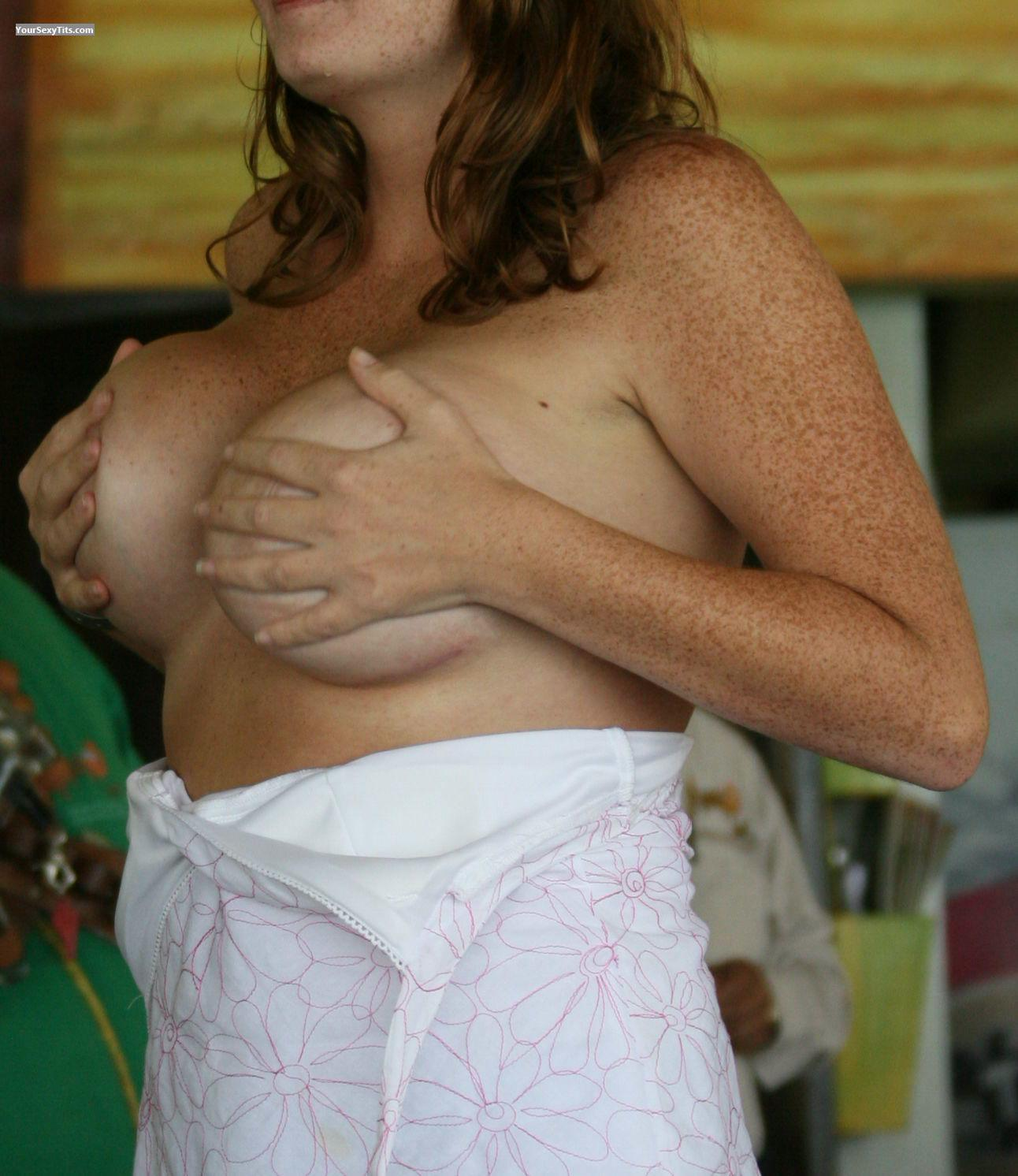 Tit Flash: Medium Tits - Guapa from Spain