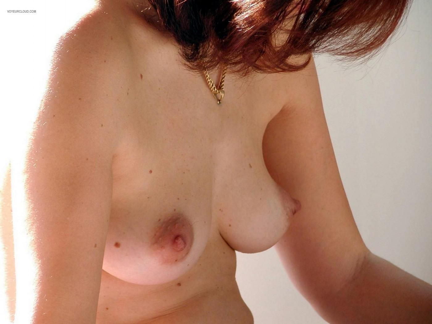 Tit Flash: Wife's Medium Tits - Ana from Portugal