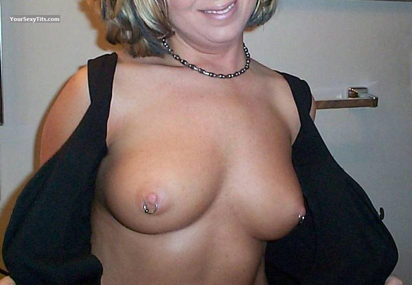 Tit Flash: Medium Tits - GC FUCKSLUT from United StatesPierced Nipples