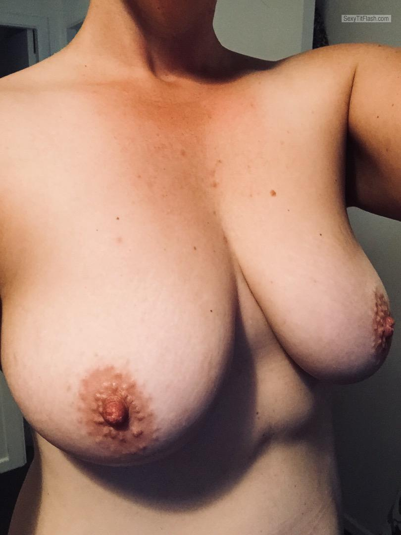 Tit Flash: My Medium Tits (Selfie) - TT from New Zealand