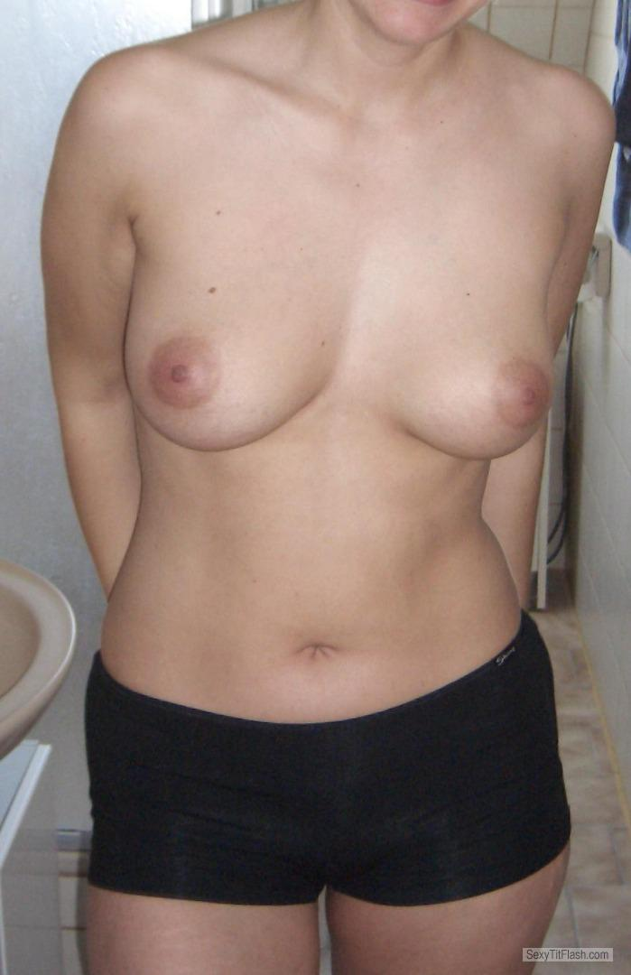 Tit Flash: My Friend's Medium Tits - Nadine from Sweden