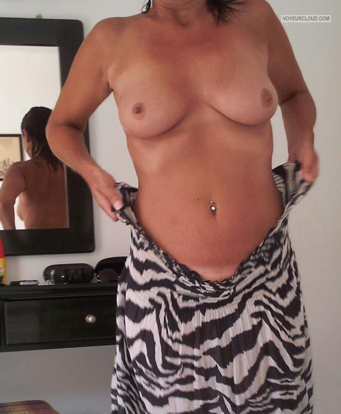 Tit Flash: Wife's Small Tits - Hornyboobs from United Kingdom