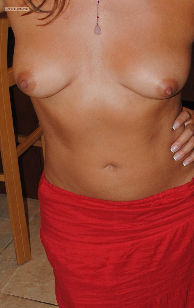 Tit Flash: Ex-Girlfriend's Small Tits - Sara from Spain
