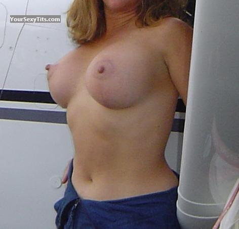 Tit Flash: Wife's Medium Tits - Cessna Flash from United States