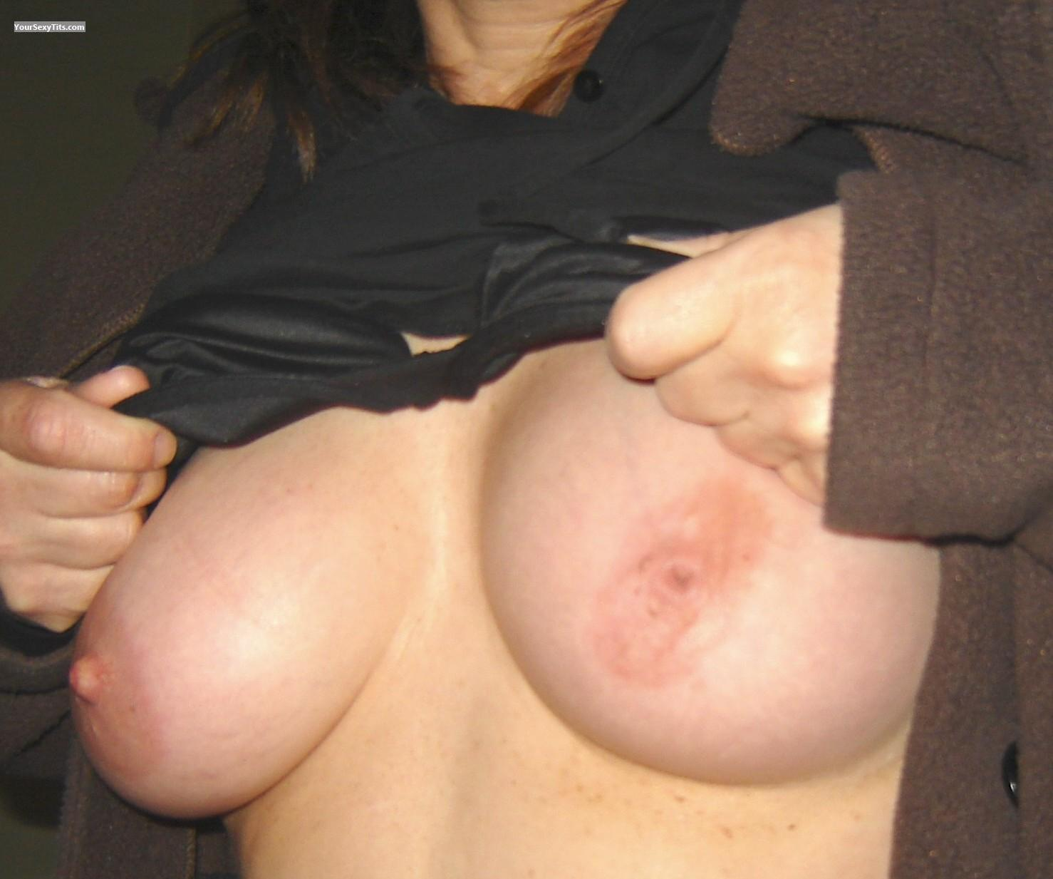 Tit Flash: Medium Tits - Bubs from United States