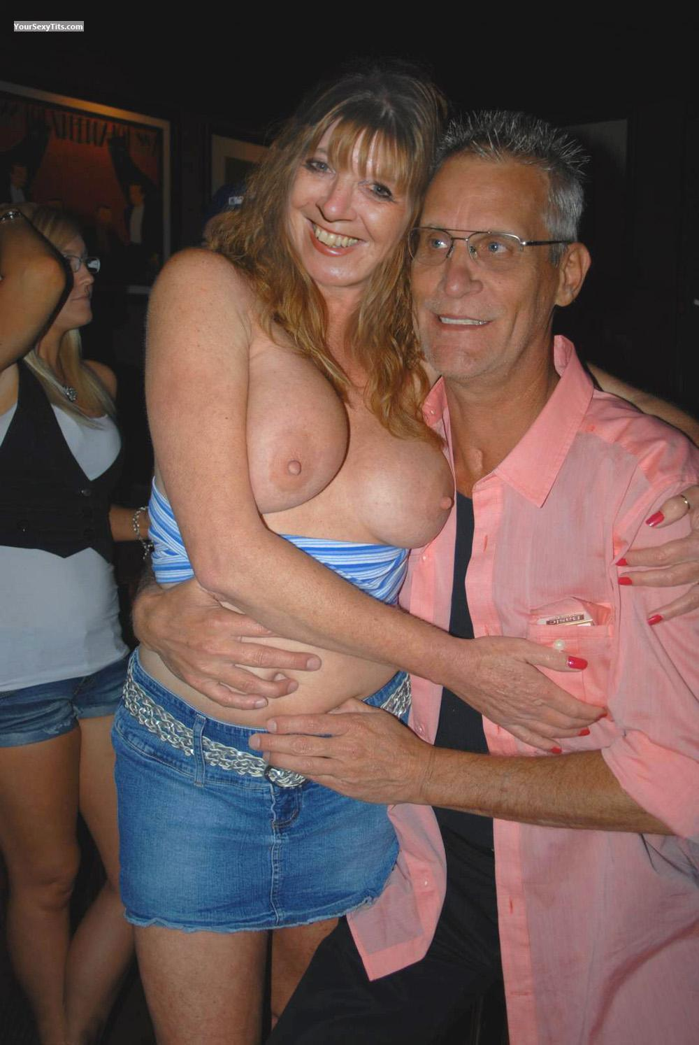 Tit Flash: Medium Tits - Topless Jane from United Kingdom