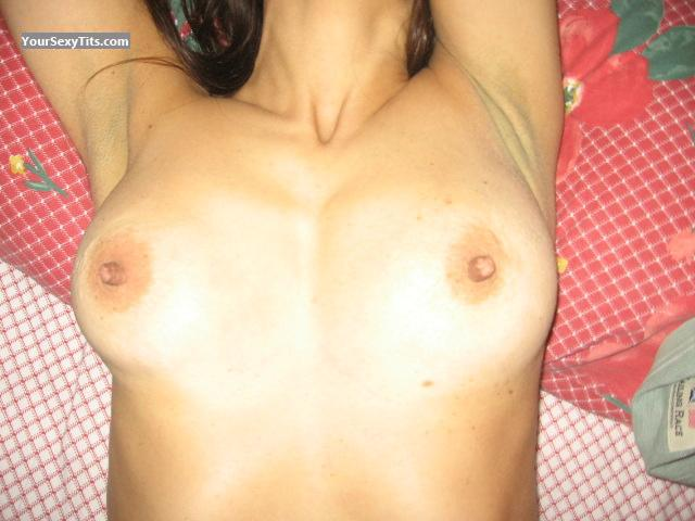 Tit Flash: Medium Tits - Adelina from Italy