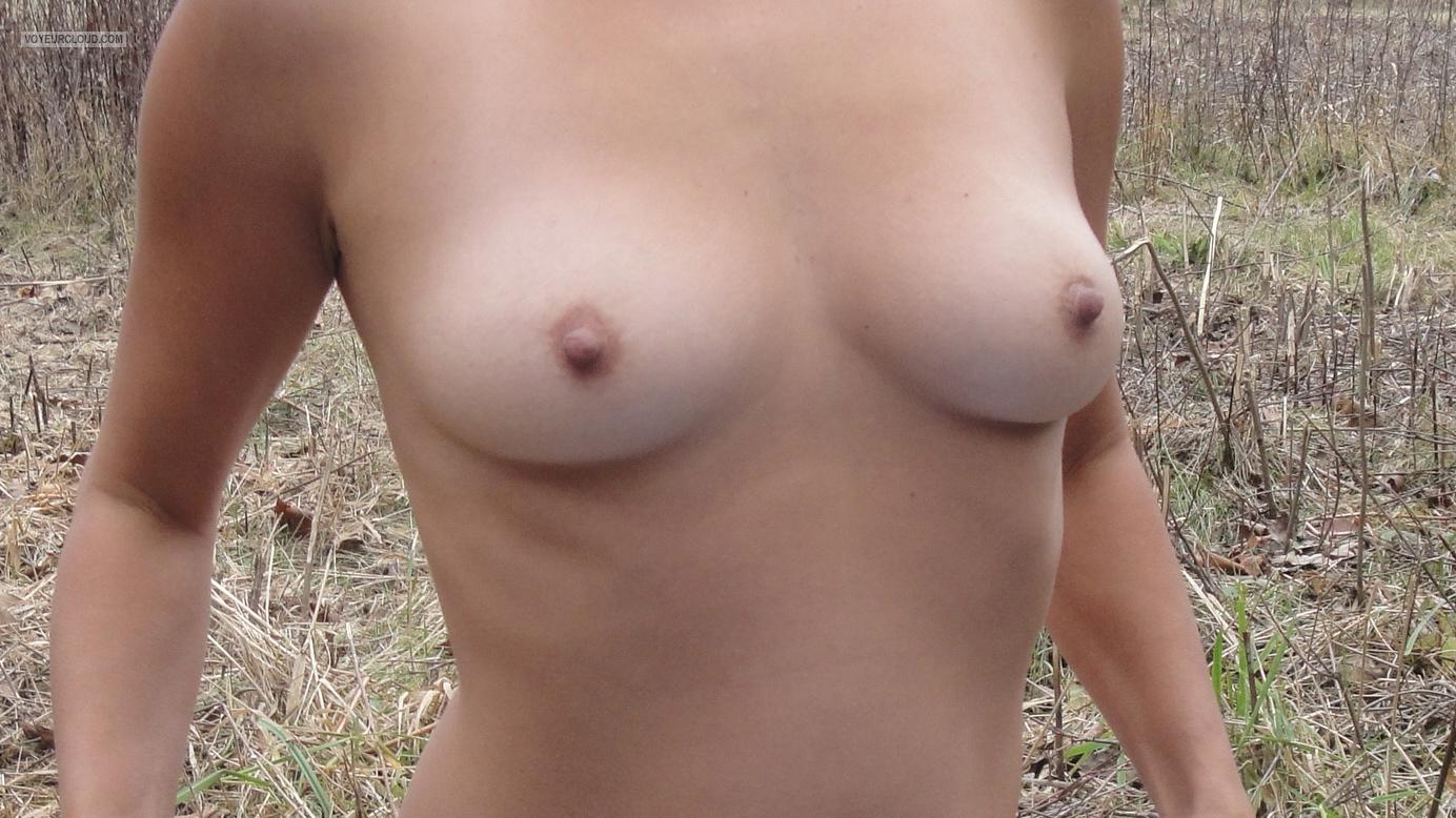 Tit Flash: Wife's Small Tits - Hotwifefia from United States